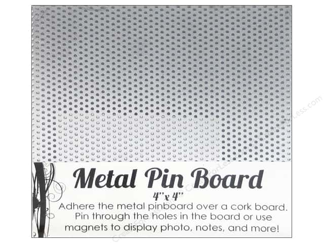 Sierra Pacific Decor Metal Pin Board 4 in. x 4 in. Silver