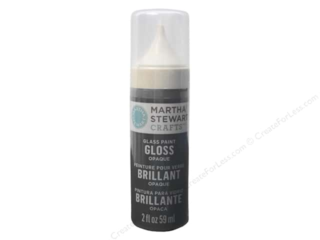 Martha Stewart Glass Paint by Plaid 2 oz. Gloss Opaque Arrowhead