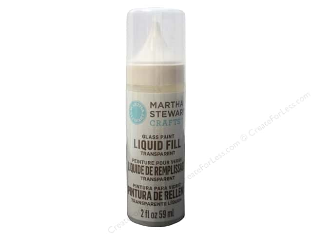 Martha Stewart Glass Paint by Plaid 2 oz. Liquid Fill Transparent Crystal Clear