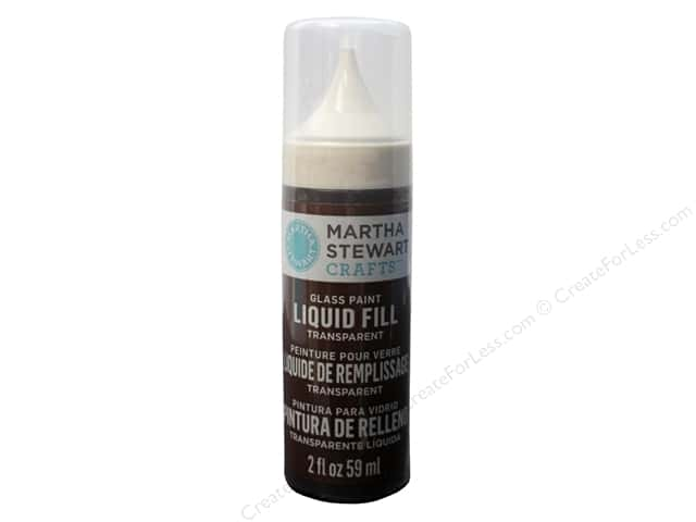 Martha Stewart Glass Paint by Plaid 2 oz. Liquid Fill Transparent Gingersnap