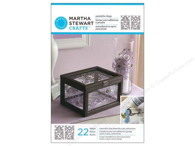 Martha Stewart Glass Paintable by Plaid Cling Gate Scrolls