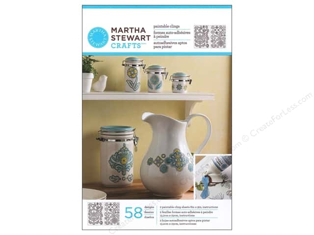 Martha Stewart Glass Paintable by Plaid Cling Ornate Flowers
