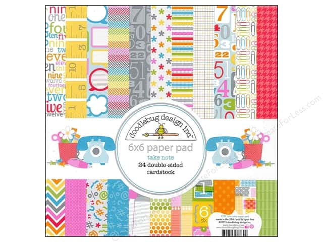 Doodlebug 6 x 6 in. Paper Pad Take Note