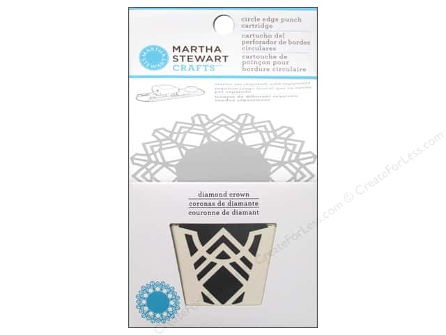 Martha Stewart Circle Edge Punch Cartridge Diamond Crown