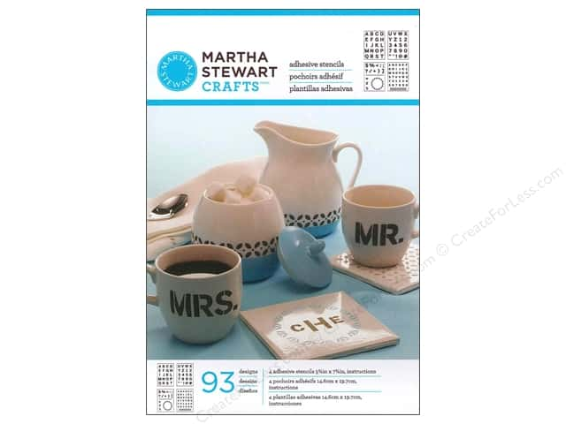 Martha Stewart Stencils by Plaid Adhesive Glass Bold Sans Alphabet