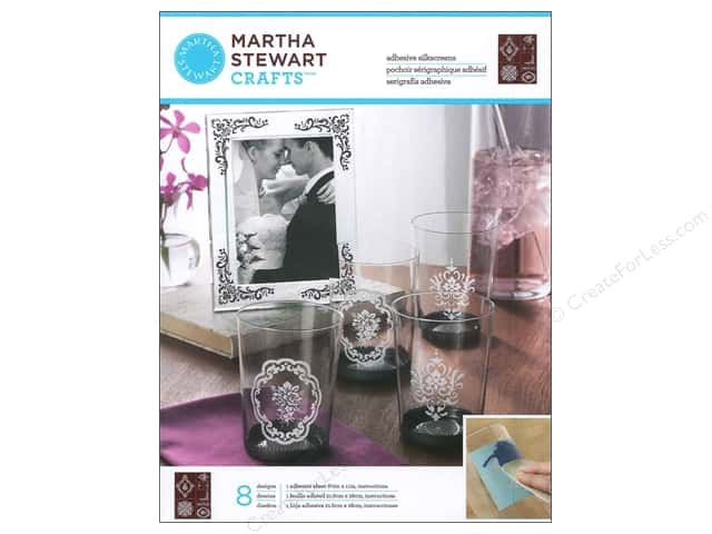 Martha Stewart Silkscreen by Plaid Glass Damask Accents