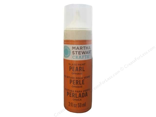 Martha Stewart Glass Paint by Plaid 2 oz. Pearl Opaque Tiger Lily