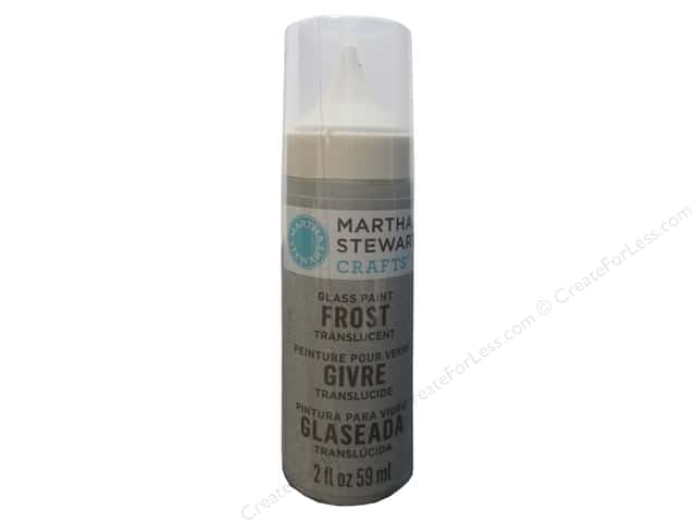 Martha Stewart Glass Paint by Plaid 2 oz. Frost Wet Cement