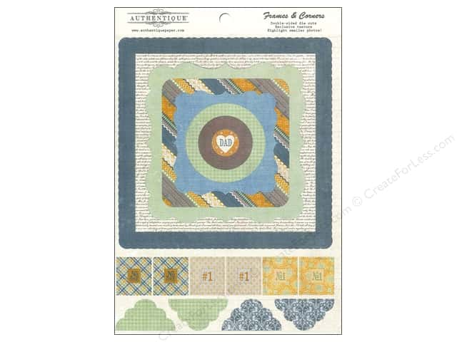 Authentique Die Cuts Strong Frames And Corners (12 sets)