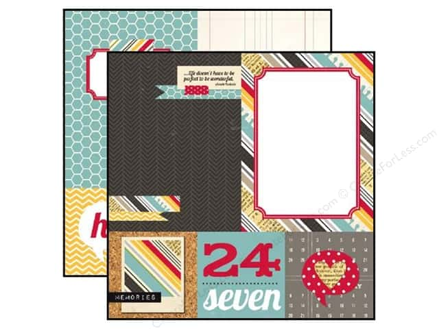 Simple Stories 12 x 12 in. Paper 24/Seven Quote & Photo Mat Elements (25 sheets)