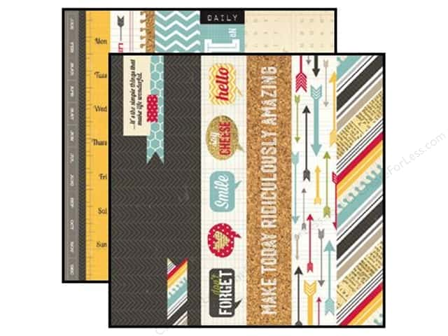 Simple Stories 12 x 12 in. Paper 24/Seven Border Title Strip Element (25 sheets)