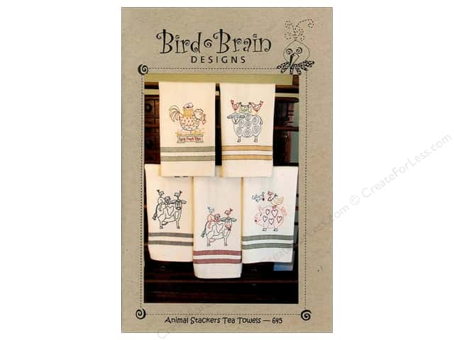 Bird Brain Designs Animal Stackers Tea Towels Pattern