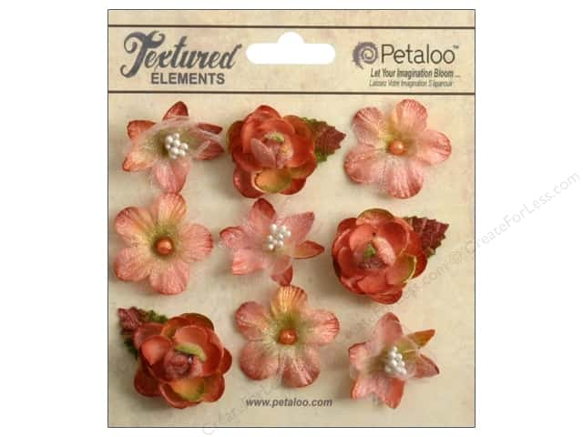 Petaloo Textured Elements Mini Blossoms Apricot