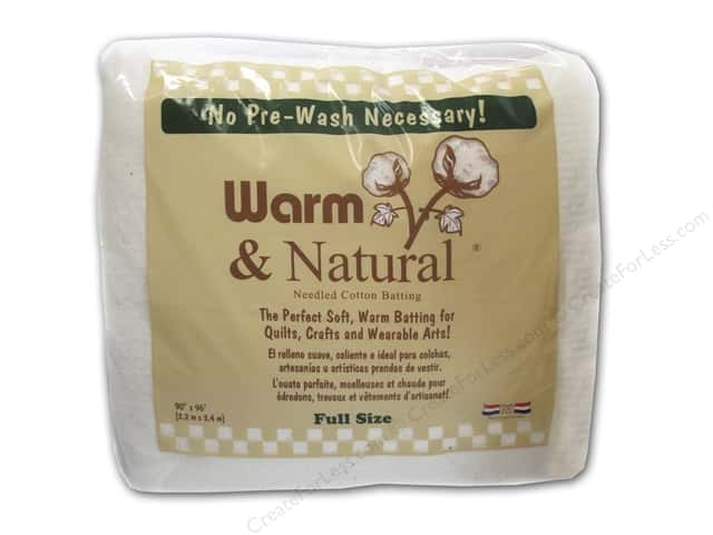 The Warm Company Warm & Natural Cotton Batting Full 90 x 96 in.