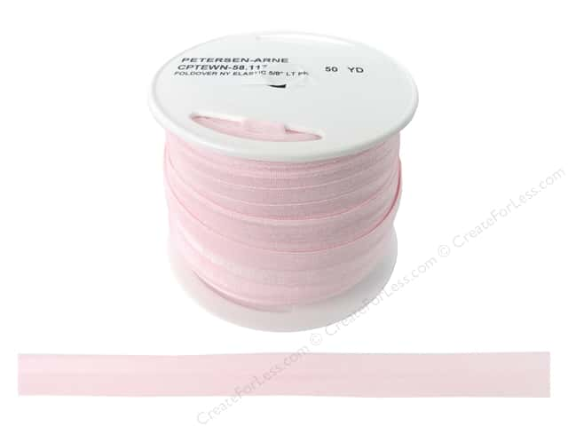 Fold Over Nylon Elastic by Cheep Trims 5/8 in. Light Pink (50 yards)