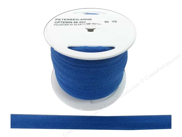 Fold Over Nylon Elastic by Cheep Trims 5/8 in. Sapphire (50 yards)