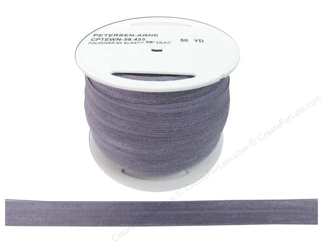 Fold Over Nylon Elastic by Cheep Trims 5/8 in. Lilac (50 yards)