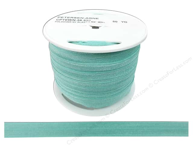 Fold Over Nylon Elastic by Cheep Trims 5/8 in. Mint
