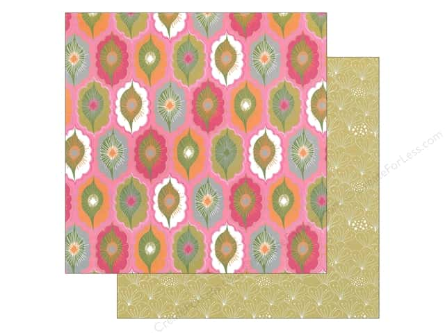 """Blend Paper 12""""x 12"""" Blomma Keiko Pink (25 sheets)"""