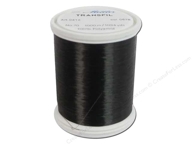 Mettler Transfil 100% Nylon Thread 1094yd Smoke