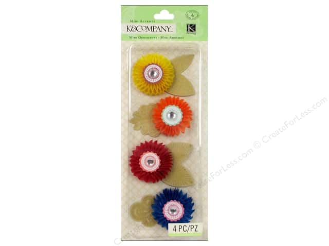 K & Company Stickers Handmade Honeycomb Flowers