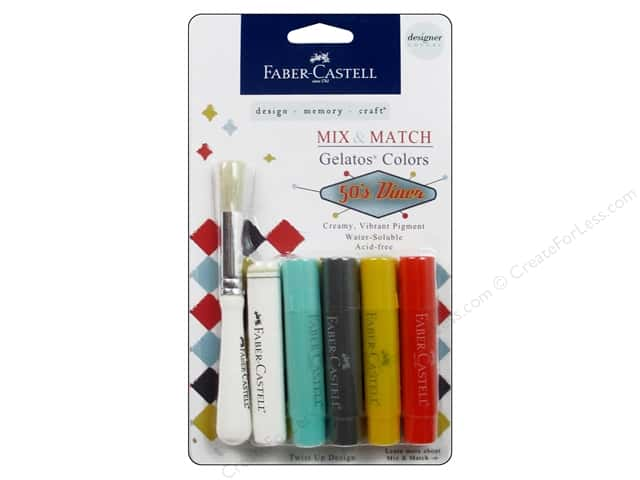 FaberCastell Gelatos Designer Colors 4 pc. 50's Diner