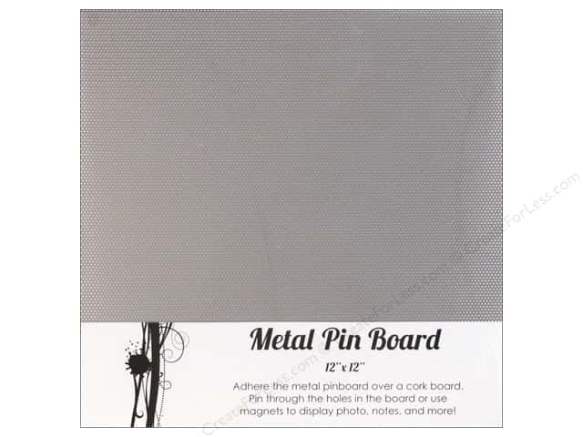 "Sierra Pacific Crafts Decor Metal Pin Board 12""x 12"" Silver"