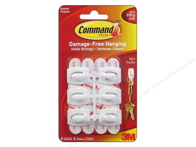 Command Adhesive Hook Mini White 6pc