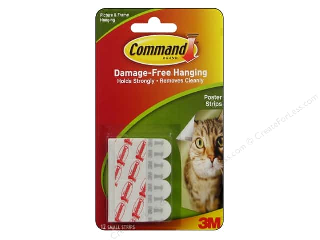 Command Adhesive Replacement Poster Strips 12pc