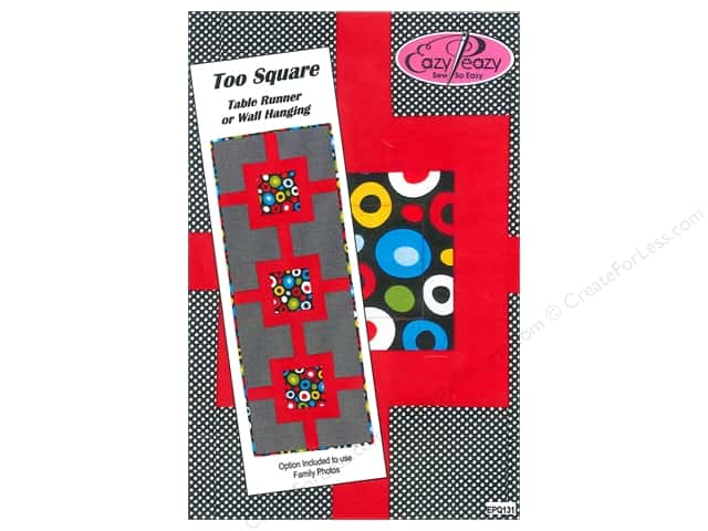 Eazy Peazy Too Square Table Runner Pattern