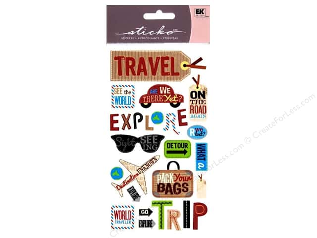 EK Sticko Stickers Happy Traveling