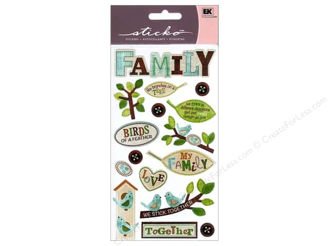 EK Sticko Stickers The Family Tree
