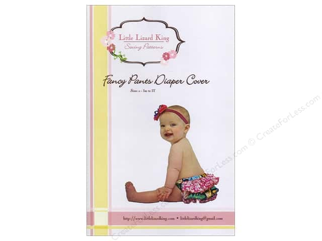 Little Lizard King Fancy Pants Diaper Cover Sizes 0-3M to 3T Pattern