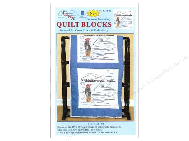 Jack Dempsey 18 in. Quilt Blocks 6 pc. Fly Fisherman
