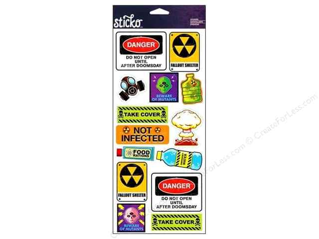 EK Sticko Stickers Labels Doomsday Survival