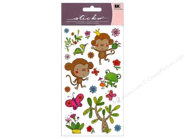 EK Sticko Stickers Funky Monkey