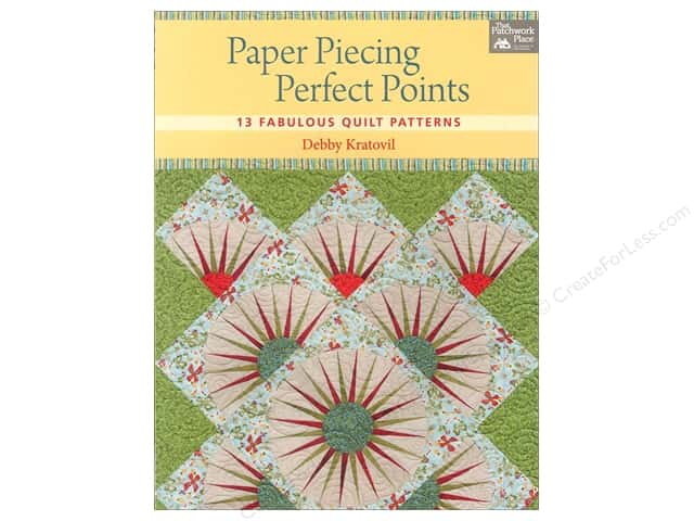 That Patchwork Place Paper Piecing Perfect Points Book by Debby Kratovil