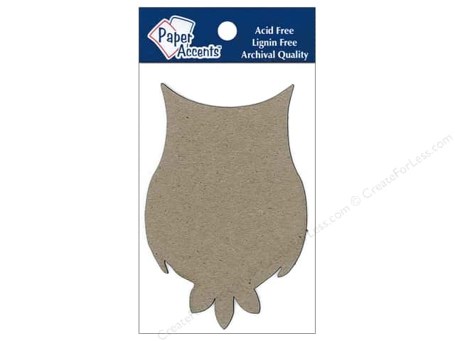 Paper Accents Chipboard Shape Owl 8 pc.