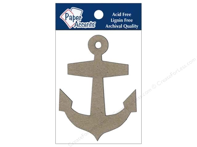 Paper Accents Chipboard Shape Anchor 8 pc.