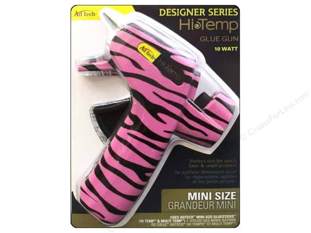 Adhesive Technology Low Temp Glue Gun Mini Zebra Pink