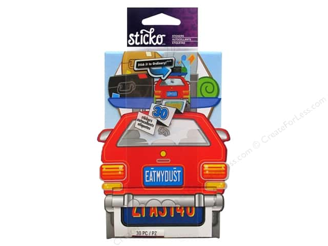 EK Sticko Stickers License Plate Roll
