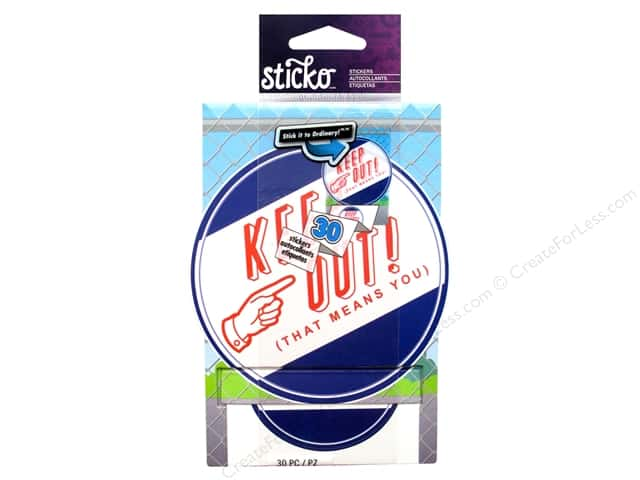EK Sticko Stickers Keep Out Roll