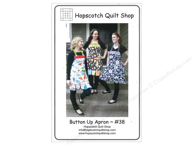 Hopscotch Quilt Shop Button Up Apron Pattern