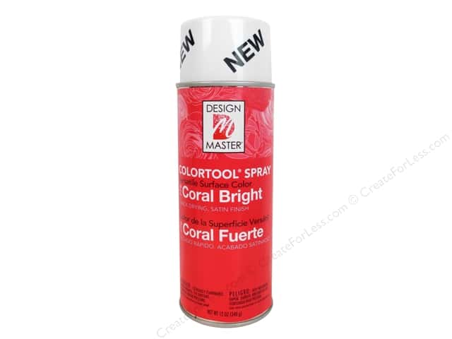 Design Master Colortool Spray Paint #778 Bright Coral 12 oz.