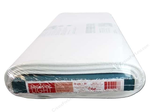 C&T Fast2Fuse Interfacing Light Weight 20 in. x 10 yd. White (10 yards)
