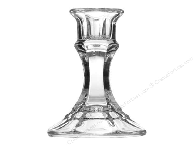 Crisa by Libbey Glass Candlestick 4 in. (12 pieces)