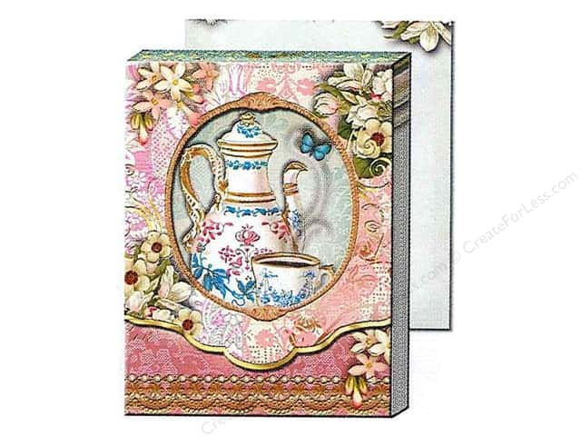 Punch Studio Pocket Note Pad Window Tea Time