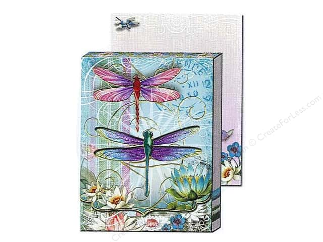 Punch Studio Pocket Note Pad Window Blue Dragonfly