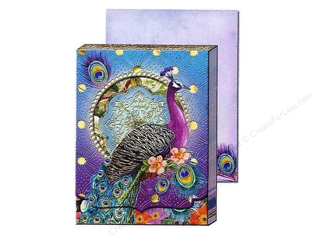 Punch Studio Pocket Note Pad Window Purple Peacock