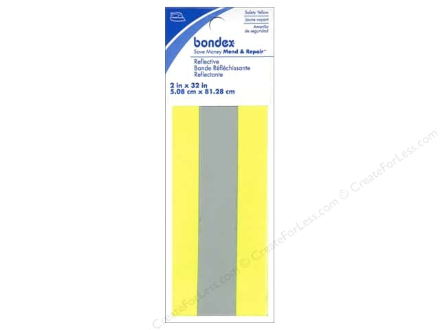 Bondex Iron On Reflective Tape 2 in. Safety Yellow